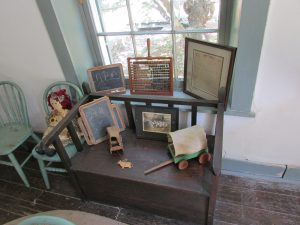 School items of Mrs. Ernestine Edmunds in the Yturri-Edmunds main house.