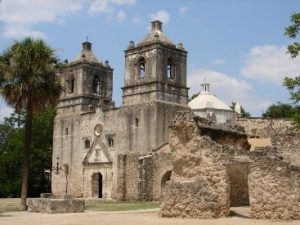 Front facade of Mission Concepcion