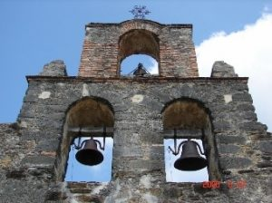 The bell tower on Mission Espada has three bells.