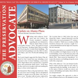 Front cover of Summer 2018 newsletter showing Woolworth Building and Crockett Block
