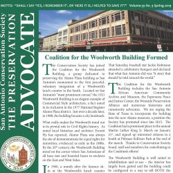Front Cover of Spring Newsletter showing the Woolworth Building