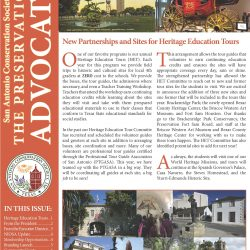 front page of Fall 2019 Preservation Advocate