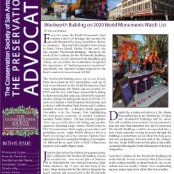 Front page of Winter 2019 Preservation Advocate
