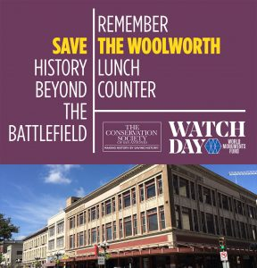 Save the Woolworth - World Monuments Watch Day banner