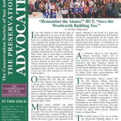 Front page of the Spring 2020 Advocate Newsletter
